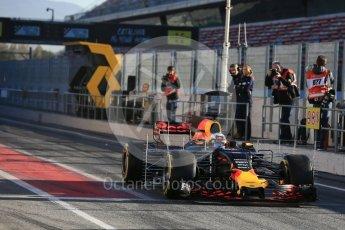 World © Octane Photographic Ltd. Formula 1 - Winter Test 2. Daniel Ricciardo - Red Bull Racing RB13. Circuit de Barcelona-Catalunya. Tuesday 7th March 2017. Digital Ref :1784LB5D9242