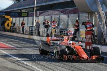 World © Octane Photographic Ltd. Formula 1 - Winter Test 2. Stoffel Vandoorne - McLaren Honda MCL32. Circuit de Barcelona-Catalunya. Tuesday 7th March 2017. Digital Ref :1784LB5D9259