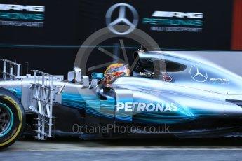 World © Octane Photographic Ltd. Formula 1 - Winter Test 2. Lewis Hamilton - Mercedes AMG Petronas F1 W08 EQ Energy+. Circuit de Barcelona-Catalunya. Tuesday 7th March 2017. Digital Ref :1784LB5D9298