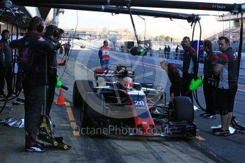 World © Octane Photographic Ltd. Formula 1 - Winter Test 2. Kevin Magnussen - Haas F1 Team VF-17. Circuit de Barcelona-Catalunya. Tuesday 7th March 2017. Digital Ref :1784LB5D9343