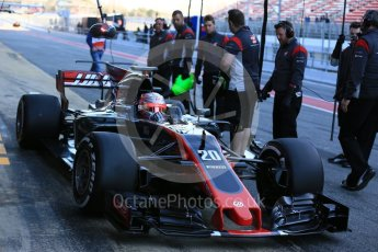 World © Octane Photographic Ltd. Formula 1 - Winter Test 2. Kevin Magnussen - Haas F1 Team VF-17. Circuit de Barcelona-Catalunya. Tuesday 7th March 2017. Digital Ref :1784LB5D9350
