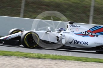 World © Octane Photographic Ltd. Formula 1 - Winter Test 2. Lance Stroll - Williams Martini Racing FW40. Circuit de Barcelona-Catalunya. Wednesday 8th March 2017. Digital Ref: 1785LB1D4476