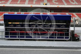 World © Octane Photographic Ltd. Formula 1 - Winter Test 2. Scuderia Toro Rosso pit wall. Circuit de Barcelona-Catalunya. Wednesday 8th March 2017. Digital Ref: 1785LB5D9544