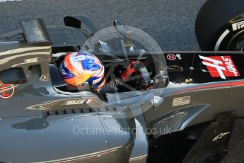 World © Octane Photographic Ltd. Formula 1 - Winter Test 1. Romain Grosjean - Haas F1 Team VF-17. Circuit de Barcelona-Catalunya. Wednesday 1st March 2017. Digital Ref : 1782CB1D4365