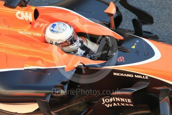 World © Octane Photographic Ltd. Formula 1 - Winter Test 1. Fernando Alonso - McLaren Honda MCL32. Circuit de Barcelona-Catalunya. Wednesday 1st March 2017. Digital Ref :1782CB1D4376