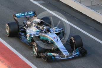 World © Octane Photographic Ltd. Formula 1 - Winter Test 1. Valtteri Bottas - Mercedes AMG Petronas F1 W08 EQ Energy+. Circuit de Barcelona-Catalunya. Wednesday 1st March 2017. Digital Ref :1782CB1D4461