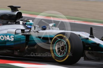 World © Octane Photographic Ltd. Formula 1 - Winter Test 1. Valtteri Bottas - Mercedes AMG Petronas F1 W08 EQ Energy+. Circuit de Barcelona-Catalunya. Wednesday 1st March 2017. Digital Ref :1782CB1D8021
