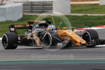 World © Octane Photographic Ltd. Formula 1 - Winter Test 1. Jolyon Palmer - Renault Sport F1 Team R.S.17. Circuit de Barcelona-Catalunya. Wednesday 1st March 2017. Digital Ref :1782CB1D8041