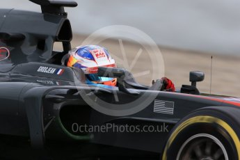 World © Octane Photographic Ltd. Formula 1 - Winter Test 1. Romain Grosjean - Haas F1 Team VF-17. Circuit de Barcelona-Catalunya. Wednesday 1st March 2017. Digital Ref :1782CB1D8124