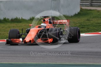 World © Octane Photographic Ltd. Formula 1 - Winter Test 1. Fernando Alonso - McLaren Honda MCL32. Circuit de Barcelona-Catalunya. Wednesday 1st March 2017. Digital Ref :1782CB1D8133