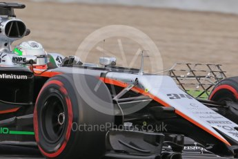 World © Octane Photographic Ltd. Formula 1 - Winter Test 1. Alfonso Celis - Sahara Force India VJM10. Circuit de Barcelona-Catalunya. Wednesday 1st March 2017. Digital Ref :1782CB1D8216