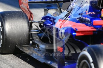 World © Octane Photographic Ltd. Formula 1 - Winter Test 1. Carlos Sainz - Scuderia Toro Rosso STR12. Circuit de Barcelona-Catalunya. Wednesday 1st March 2017. Digital Ref :1782CB1D8400