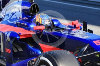 World © Octane Photographic Ltd. Formula 1 - Winter Test 1. Carlos Sainz - Scuderia Toro Rosso STR12. Circuit de Barcelona-Catalunya. Wednesday 1st March 2017. Digital Ref :1782CB1D8414