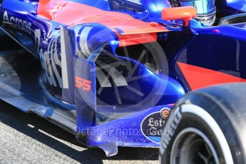 World © Octane Photographic Ltd. Formula 1 - Winter Test 1. Carlos Sainz - Scuderia Toro Rosso STR12. Circuit de Barcelona-Catalunya. Wednesday 1st March 2017. Digital Ref :1782CB1D8418