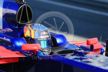 World © Octane Photographic Ltd. Formula 1 - Winter Test 1. Carlos Sainz - Scuderia Toro Rosso STR12. Circuit de Barcelona-Catalunya. Wednesday 1st March 2017. Digital Ref :1782CB1D8427