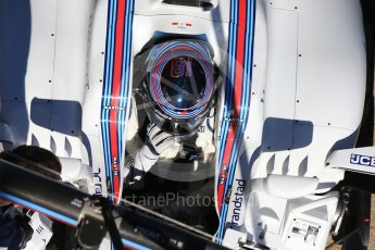 World © Octane Photographic Ltd. Formula 1 - Winter Test 1. Lance Stroll - Williams Martini Racing FW40. Circuit de Barcelona-Catalunya. Wednesday 1st March 2017. Digital Ref :1782CB1D8494