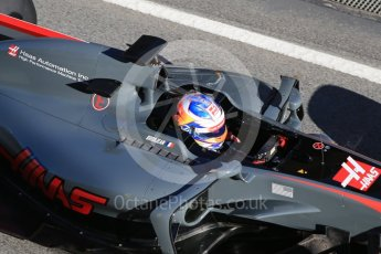 World © Octane Photographic Ltd. Formula 1 - Winter Test 1. Romain Grosjean - Haas F1 Team VF-17. Circuit de Barcelona-Catalunya. Wednesday 1st March 2017. Digital Ref :1782CB1D8609