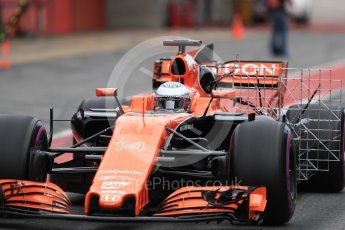 World © Octane Photographic Ltd. Formula 1 - Winter Test 1. Fernando Alonso - McLaren Honda MCL32. Circuit de Barcelona-Catalunya. Wednesday 1st March 2017. Digital Ref : 1782LB1D0001