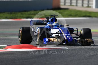 World © Octane Photographic Ltd. Formula 1 - Winter Test 1. Marcus Ericsson – Sauber F1 Team C36. Circuit de Barcelona-Catalunya. Wednesday 1st March 2017. Digital Ref :1782LB1D0183