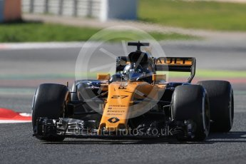 World © Octane Photographic Ltd. Formula 1 - Winter Test 1. Nico Hulkenberg - Renault Sport F1 Team R.S.17. Circuit de Barcelona-Catalunya. Wednesday 1st March 2017. Digital Ref :1782LB1D0281