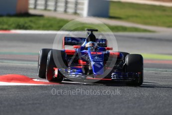 World © Octane Photographic Ltd. Formula 1 - Winter Test 1. Carlos Sainz - Scuderia Toro Rosso STR12. Circuit de Barcelona-Catalunya. Wednesday 1st March 2017. Digital Ref :1782LB1D0359