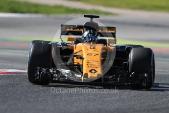World © Octane Photographic Ltd. Formula 1 - Winter Test 1. Nico Hulkenberg - Renault Sport F1 Team R.S.17. Circuit de Barcelona-Catalunya. Wednesday 1st March 2017. Digital Ref :1782LB1D0369