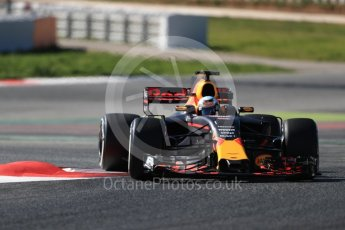 World © Octane Photographic Ltd. Formula 1 - Winter Test 1. Daniel Ricciardo - Red Bull Racing RB13. Circuit de Barcelona-Catalunya. Wednesday 1st March 2017. Digital Ref :1782LB1D0530