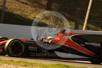 World © Octane Photographic Ltd. Formula 1 - Winter Test 1. Fernando Alonso - McLaren Honda MCL32. Circuit de Barcelona-Catalunya. Wednesday 1st March 2017. Digital Ref :
