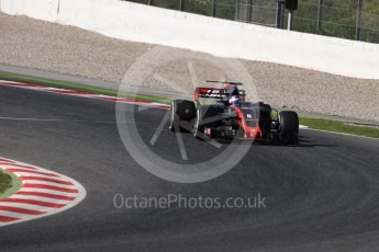 World © Octane Photographic Ltd. Formula 1 - Winter Test 1. Romain Grosjean - Haas F1 Team VF-17. Circuit de Barcelona-Catalunya. Wednesday 1st March 2017. Digital Ref :1782LB1D0925