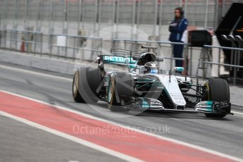 World © Octane Photographic Ltd. Formula 1 - Winter Test 1. Valtteri Bottas - Mercedes AMG Petronas F1 W08 EQ Energy+. Circuit de Barcelona-Catalunya. Wednesday 1st March 2017. Digital Ref : 1782LB1D9584