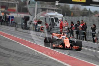 World © Octane Photographic Ltd. Formula 1 - Winter Test 1. Fernando Alonso - McLaren Honda MCL32. Circuit de Barcelona-Catalunya. Wednesday 1st March 2017. Digital Ref : 1782LB1D9745