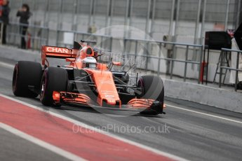 World © Octane Photographic Ltd. Formula 1 - Winter Test 1. Fernando Alonso - McLaren Honda MCL32. Circuit de Barcelona-Catalunya. Wednesday 1st March 2017. Digital Ref : 1782LB1D9762