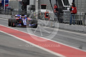World © Octane Photographic Ltd. Formula 1 - Winter Test 1. Daniil Kvyat - Scuderia Toro Rosso STR12. Circuit de Barcelona-Catalunya. Wednesday 1st March 2017. Digital Ref : 1782LB1D9815