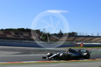 World © Octane Photographic Ltd. Formula 1 - Winter Test 1. Lewis Hamilton - Mercedes AMG Petronas F1 W08 EQ Energy+. Circuit de Barcelona-Catalunya. Wednesday 1st March 2017. Digital Ref :1782LB5D8665
