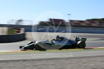 World © Octane Photographic Ltd. Formula 1 - Winter Test 1. Lewis Hamilton - Mercedes AMG Petronas F1 W08 EQ Energy+. Circuit de Barcelona-Catalunya. Wednesday 1st March 2017. Digital Ref :1782LB5D8694