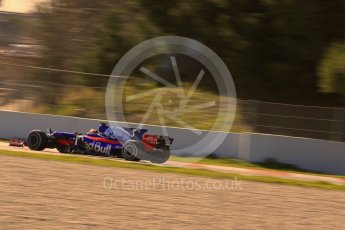 World © Octane Photographic Ltd. Formula 1 - Winter Test 1. Carlos Sainz - Scuderia Toro Rosso STR12. Circuit de Barcelona-Catalunya. Wednesday 1st March 2017. Digital Ref :