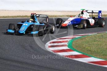 World © Octane Photographic Ltd. GP3 - Race 2. Arjun Maini – Jenzer Motorsport and Dorian Boccolacci – Trident. Circuit de Barcelona - Catalunya, Spain. Sunday 14th May 2017. Digital Ref:1821LB1D2842