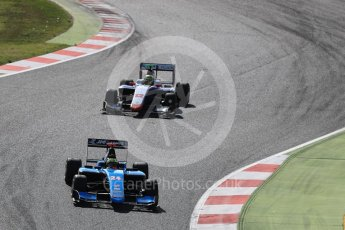 World © Octane Photographic Ltd. GP3 - Race 2. Arjun Maini – Jenzer Motorsport and Dorian Boccolacci – Trident. Circuit de Barcelona - Catalunya, Spain. Sunday 14th May 2017. Digital Ref:1821LB1D2911