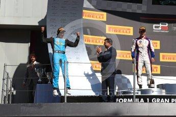 World © Octane Photographic Ltd. GP3 - Race 2. Arjun Maini (1st) – Jenzer Motorsport and Dorian Boccolacci (2nd) – Trident. Circuit de Barcelona - Catalunya, Spain. Sunday 14th May 2017. Digital Ref:1821LB1D3076