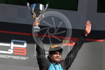 World © Octane Photographic Ltd. GP3 - Race 2. Arjun Maini (1st) – Jenzer Motorsport. Circuit de Barcelona - Catalunya, Spain. Sunday 14th May 2017. Digital Ref:1821LB1D3131
