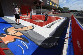 World © Octane Photographic Ltd. GP3 - Race 2. New Parc Ferme graphics. Circuit de Barcelona - Catalunya, Spain. Sunday 14th May 2017. Digital Ref:1821LB2D8720