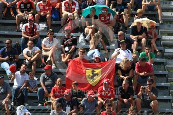 World © Octane Photographic Ltd. Formula 1 - Italian Grand Prix - Practice 2. Fans. Monza, Italy. Friday 1st September 2017. Digital Ref: 1939LB1D2140