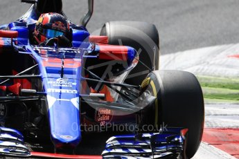 World © Octane Photographic Ltd. Formula 1 - Italian Grand Prix - Practice 2. Carlos Sainz - Scuderia Toro Rosso STR12. Monza, Italy. Friday 1st September 2017. Digital Ref: 1939LB1D2363