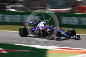 World © Octane Photographic Ltd. Formula 1 - Italian Grand Prix - Practice 2. Carlos Sainz - Scuderia Toro Rosso STR12. Monza, Italy. Friday 1st September 2017. Digital Ref: 1939LB1D2564