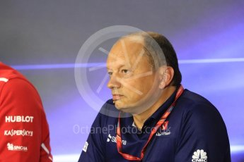 World © Octane Photographic Ltd. Formula 1 - Italian Grand Prix – Friday Team Press Conference – Part 1. Frederic Vasseur – Team Principal and CEO of Sauber Motorsport AG. Monza, Italy. Friday 1st September 2017. Digital Ref: 1940LB1D2902