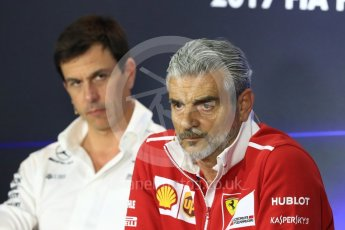 World © Octane Photographic Ltd. Formula 1 - Italian Grand Prix – Friday Team Press Conference – Part 1. Maurizio Arrivabene – Managing Director and Team Principal of Scuderia Ferrari. Monza, Italy. Friday 1st September 2017. Digital Ref: 1940LB1D2908
