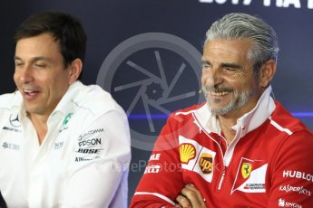 World © Octane Photographic Ltd. Formula 1 - Italian Grand Prix – Friday Team Press Conference – Part 1. Maurizio Arrivabene – Managing Director and Team Principal of Scuderia Ferrari. Monza, Italy. Friday 1st September 2017. Digital Ref: 1940LB1D2951