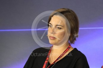 World © Octane Photographic Ltd. Formula 1 - Italian Grand Prix – Friday Team Press Conference – Part 2. Claire Williams - Deputy Team Principal of Williams Martini Racing. Monza, Italy. Friday 1st September 2017. Digital Ref: 1940LB1D2969