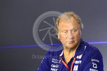 World © Octane Photographic Ltd. Formula 1 - Italian Grand Prix – Friday Team Press Conference – Part 2. Robert Fernley - Deputy Team Principal of Sahara Force India. Monza, Italy. Friday 1st September 2017. Digital Ref: 1940LB1D2993