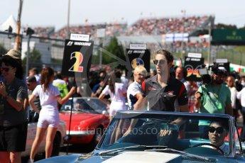 World © Octane Photographic Ltd. Formula 1 - Japanese Grand Prix - Sunday - Drivers' Parade. Romain Grosjean - Haas F1 Team VF-17. Suzuka Circuit, Suzuka, Japan. Sunday 8th October 2017. Digital Ref:1979LB1D0117